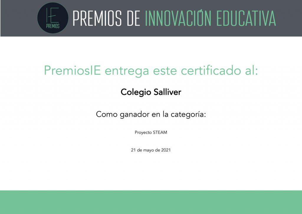 Ganador-Premios-Innovacion-Educativa-2021-steam-Colegio-Salliver