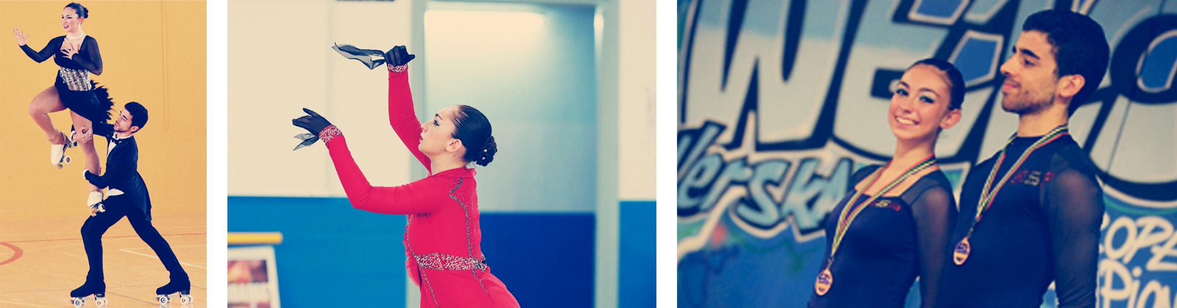 Natalia Baldizzone, en la élite del patinaje artístico